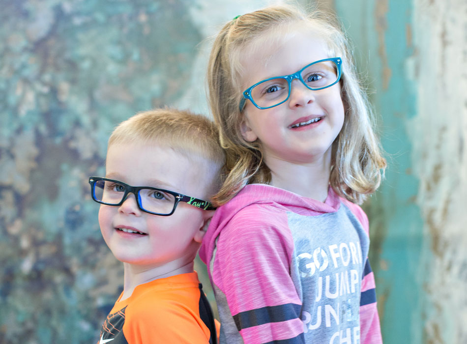 Boy and Girl in Glasses